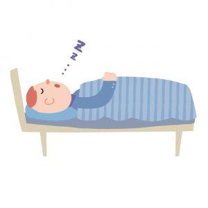 眠る男性のイラスト