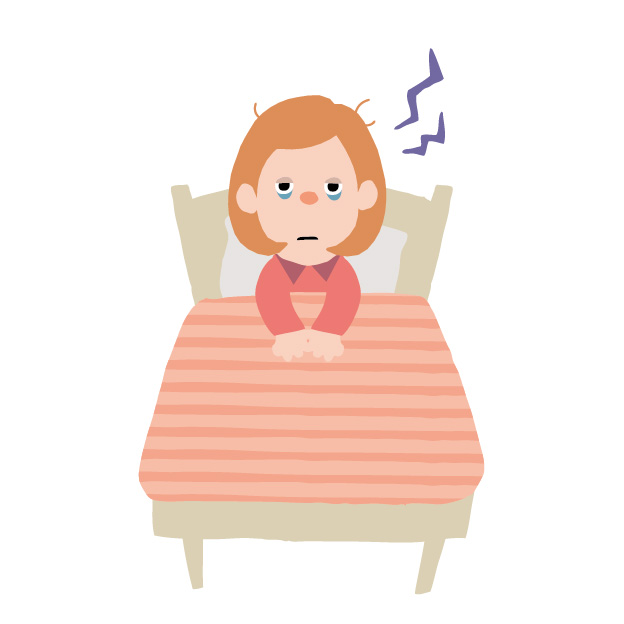 睡眠不足の女性イラスト